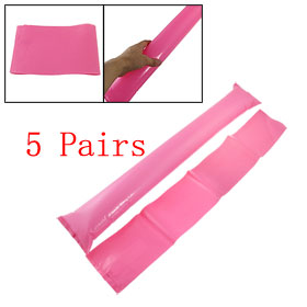 "22.8"" Long Pink Plastic Inflatable Balloons Bang Bar Stick 5 Pairs"