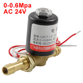 0-0.6Mpa AC 24V 2 Way Air Control Welding Solenoid Valve