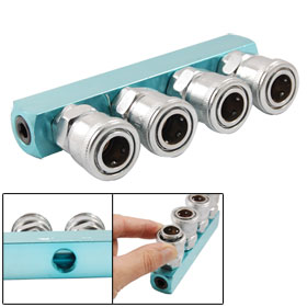 Piping Fitting Connector Air Hose Multi 4 Way Pass Quick Coupler Socket
