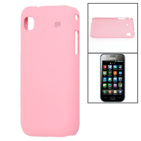 Light Pink Rubberized Hard Plastic Back Case for Samsung i9003