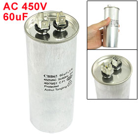 CBB65 60uF AC 450V Air Conditioner Compressor Start Capacitor