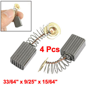 4 Pcs 13mm x 9mm x 6mm Motor Carbon Brushes for Power Tool