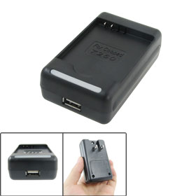 2 Flat Pin Plug USB Battery Charger Black for Coolpad 7260