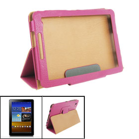 Faux Leather Sheath Case Protector Magenta for Samsung Galaxy Tab 6800