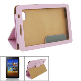 Pink Faux Leather Sheath Cover Case Protector for Samsung 6200