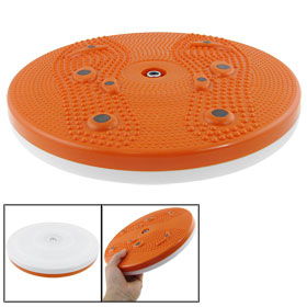 Orange White Round Magnetic Body Exercise Figure Twister Trimmer