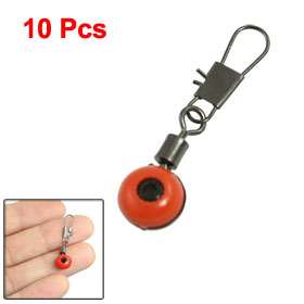 10 Pcs Line to Hook Fishing Crane Swivel Interlock Ring Connector