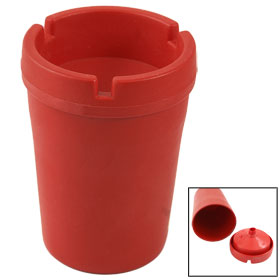 Vehicles Car Plastic Extinguishing Ashtray Cigarette Bin Holder Red