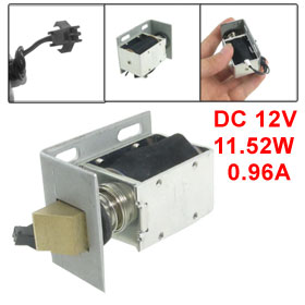 DC 12V 0.96A 2mm 1.2Kg Open Frame Type Solenoid for Electric Door Lock