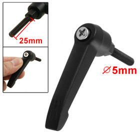 Machinery 5mm Dia Male Thread Adjustable Clamping Handle Black