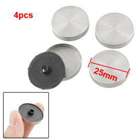 4 Pcs 25mm Stainless Steel Cap Screw Nails Silver Tone Black for Mirror