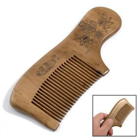 13cm Length Portable Natural Sandal Wood Scented Hair Care Comb