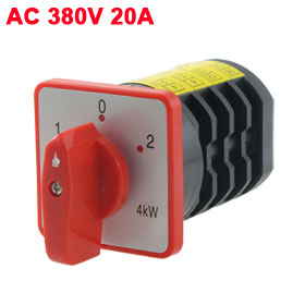 AC 380V 20A 3 Position Rotary Cam Universal Changeover Switch HZ5-20/4M08