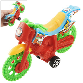 Children Four Green Black Rotary Wheels Plastic Motorcycle Toy