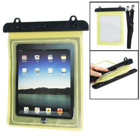 Beach Fishing Yellow Plastic Water Resistant Bag Case Protector for iPad