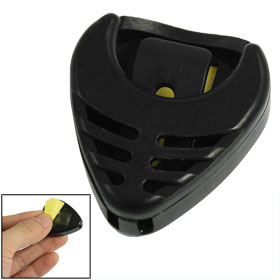 Black Plastic Heart Shape Hollow Guitar Pick Holder Case