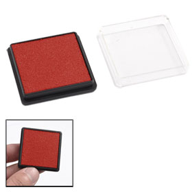 Stationery Square Shell Quick Drying Orange Red Ink Stamp Pad