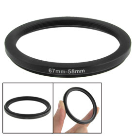 67mm-58mm 67mm to 58mm Black Step Down Ring Adapter for Camera