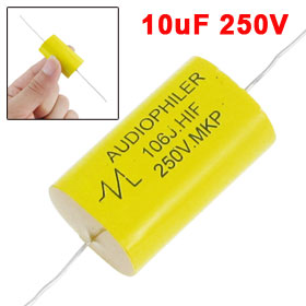 10uF 250V Axial Leads Metallized Polypropylene Film MKP Audio Capacitor