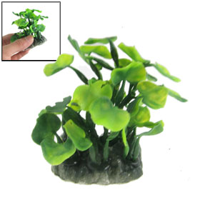 Aquarium Fish Tank Green Leaves Artificial Aquatic Plastic Plant 3.1""