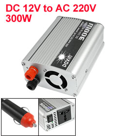 300W DC 12V to AC 220V Alligator Clamp Cable Car Charger Inverter Adapter