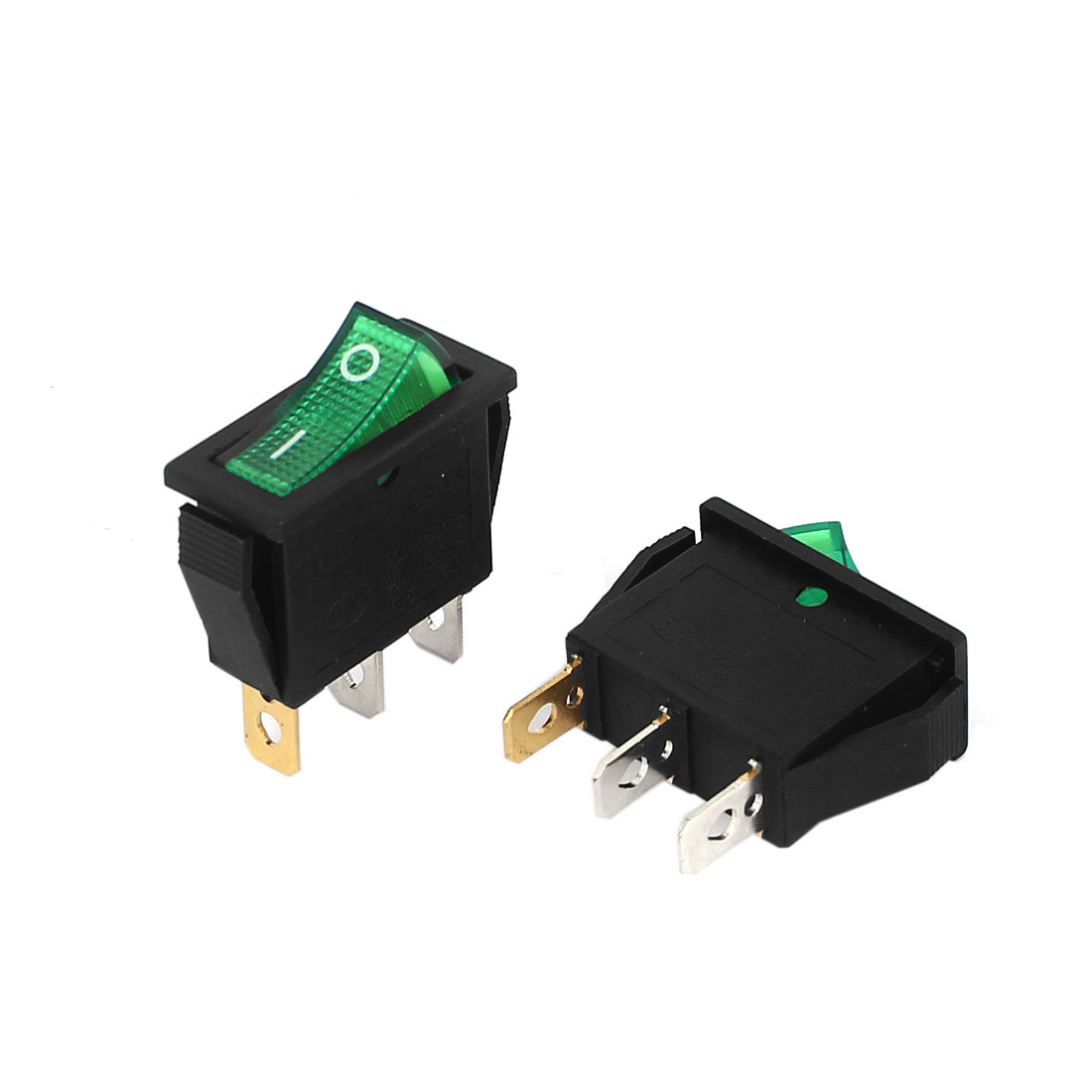 Unique Bargains 15A/250V 20A/125V AC SPST O/F Neon Lamp Rocker Switch 2 Pcs