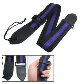 "1.9"" Wide Adjustable Band Guitar Nylon Strap Black Purple"