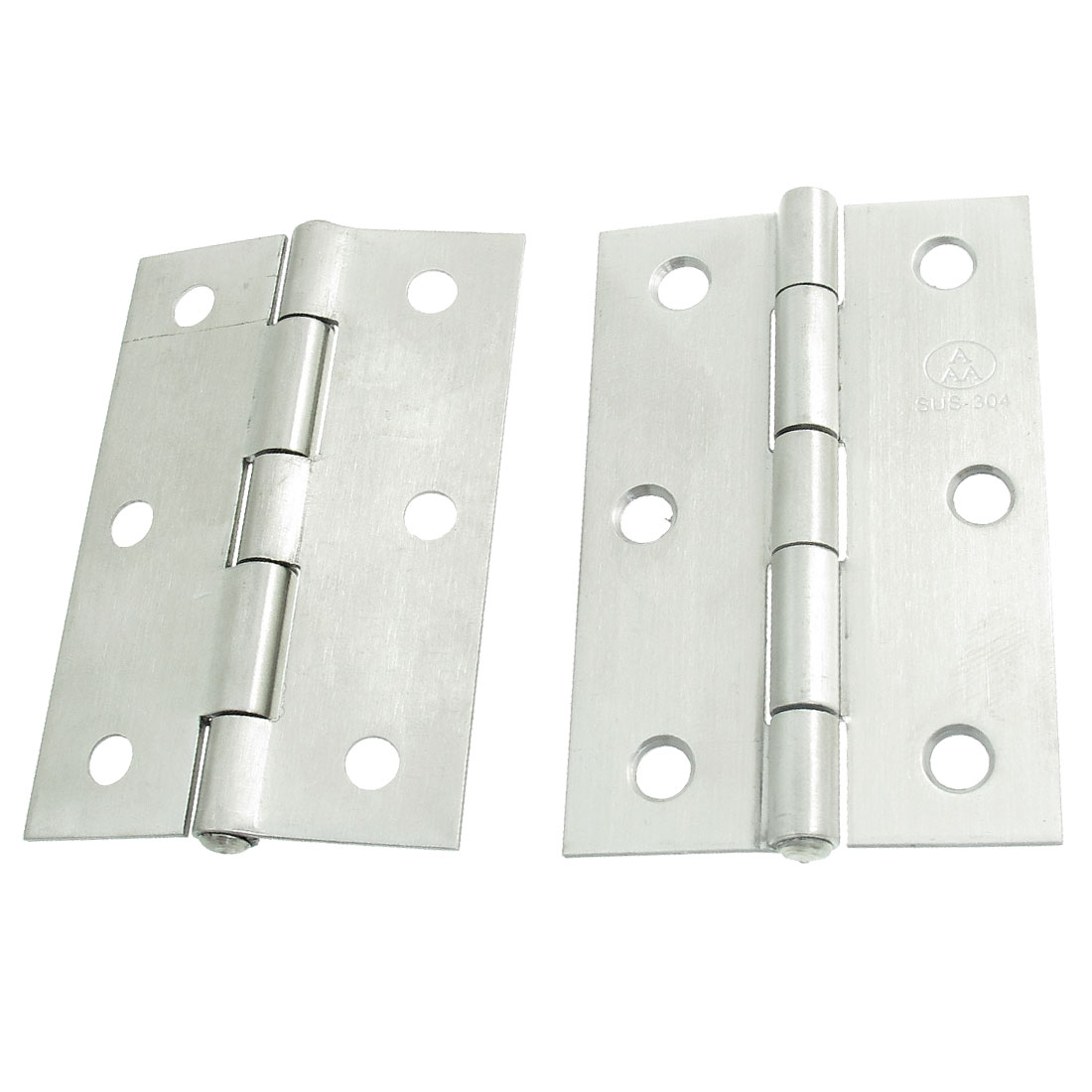 2-Pcs-3-Long-Silver-Tone-Metal-Window-Doors-Hinges