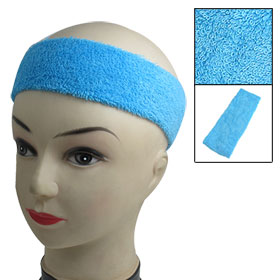 Protecting Head Athletic Sports Elastic Band Sweatband Blue for Women