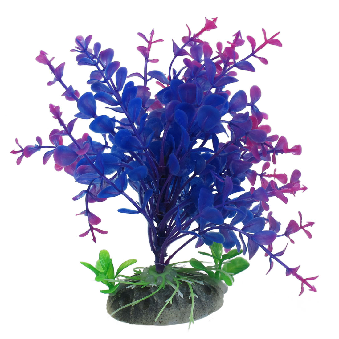 Fish-Tank-Ornament-Blue-Purple-Magenta-Plastic-Plants-5-9-Height