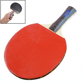 Single Table Tennis Racket Ping Pong Paddle w Case