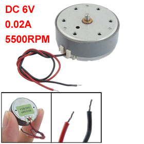 Dual Wires DC 6V 5500RPM 0.02A Micro DC Motor for CD DVD Player
