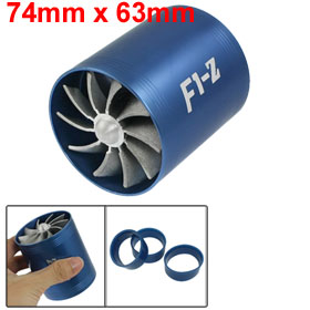 F1-Z Double Turbine Turbo Charger Air Intake Gas Fuel Saver Fan for Car