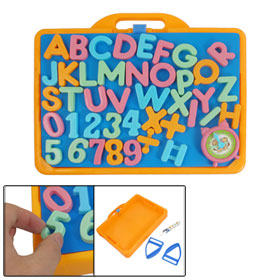 Orange Holder Children Multi Color Magnetic Letter Number Learning Toy