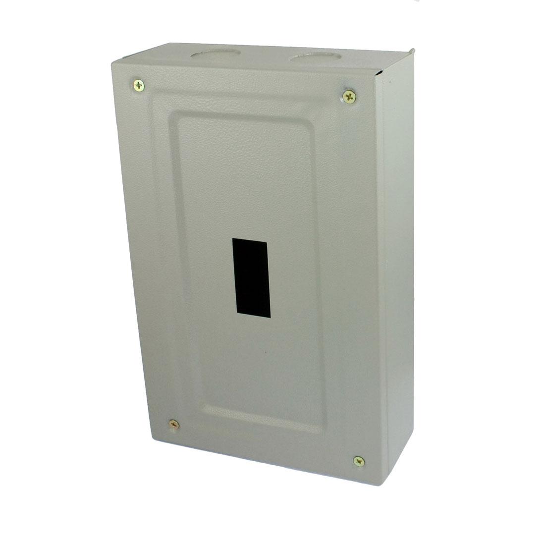 2-1-x-1-Open-Hole-Gray-Metal-Electrical-Distribution-Box