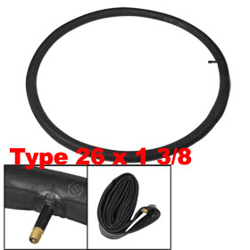Bike Bicycle Schrader Valve Black Rubber Inner Tube 26 x 1 3/8