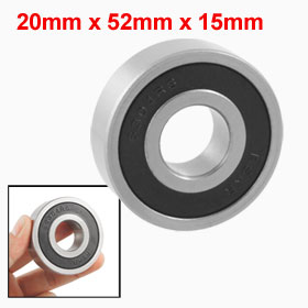 6304RS 20mm x 52mm x 15mm Single Row Sealed Deep Groove Ball Bearing