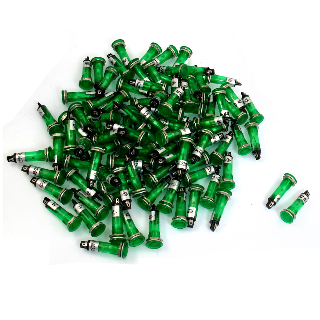100-Pcs-2-Pins-Recessed-Green-Pilot-Light-Signal-Indicator-Lamp-AC-220V