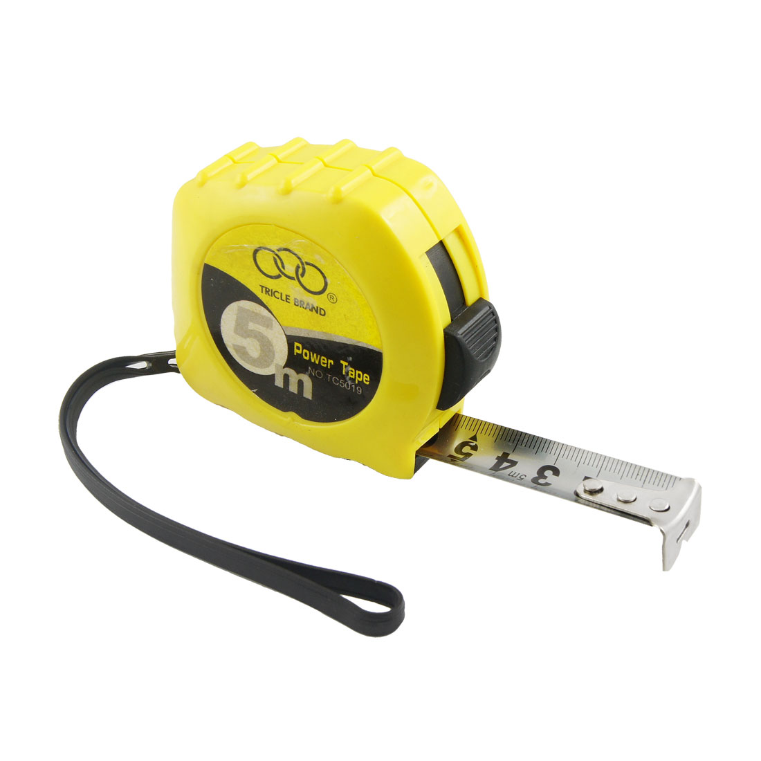 Yellow-Plastic-Case-Retractable-Steel-Ruler-Tape-Metric-Measuring-Tool-5M