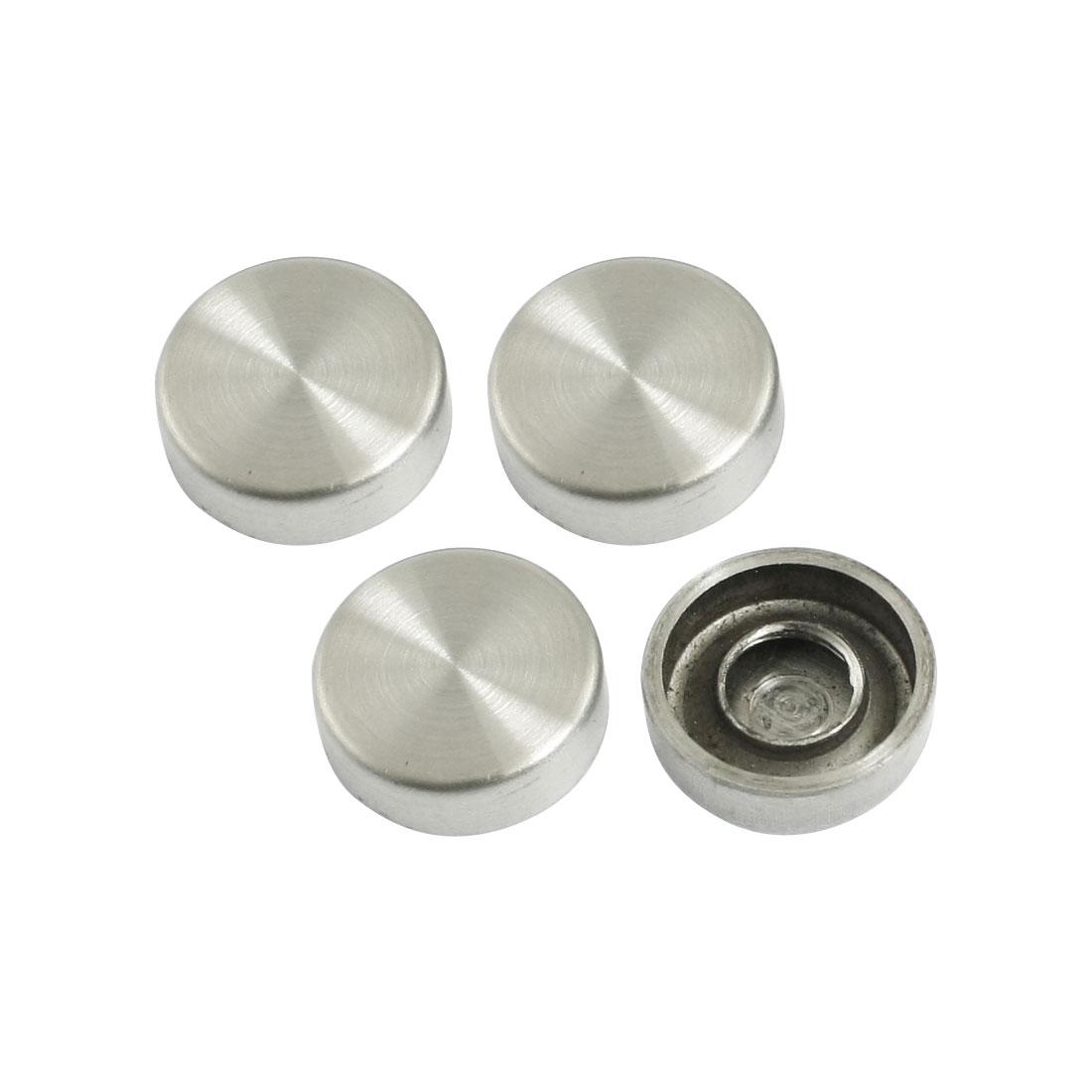 Wardrobes-Mirror-16mm-Diameter-Silver-Tone-Round-Cap-Screw-Nails-4-Pcs