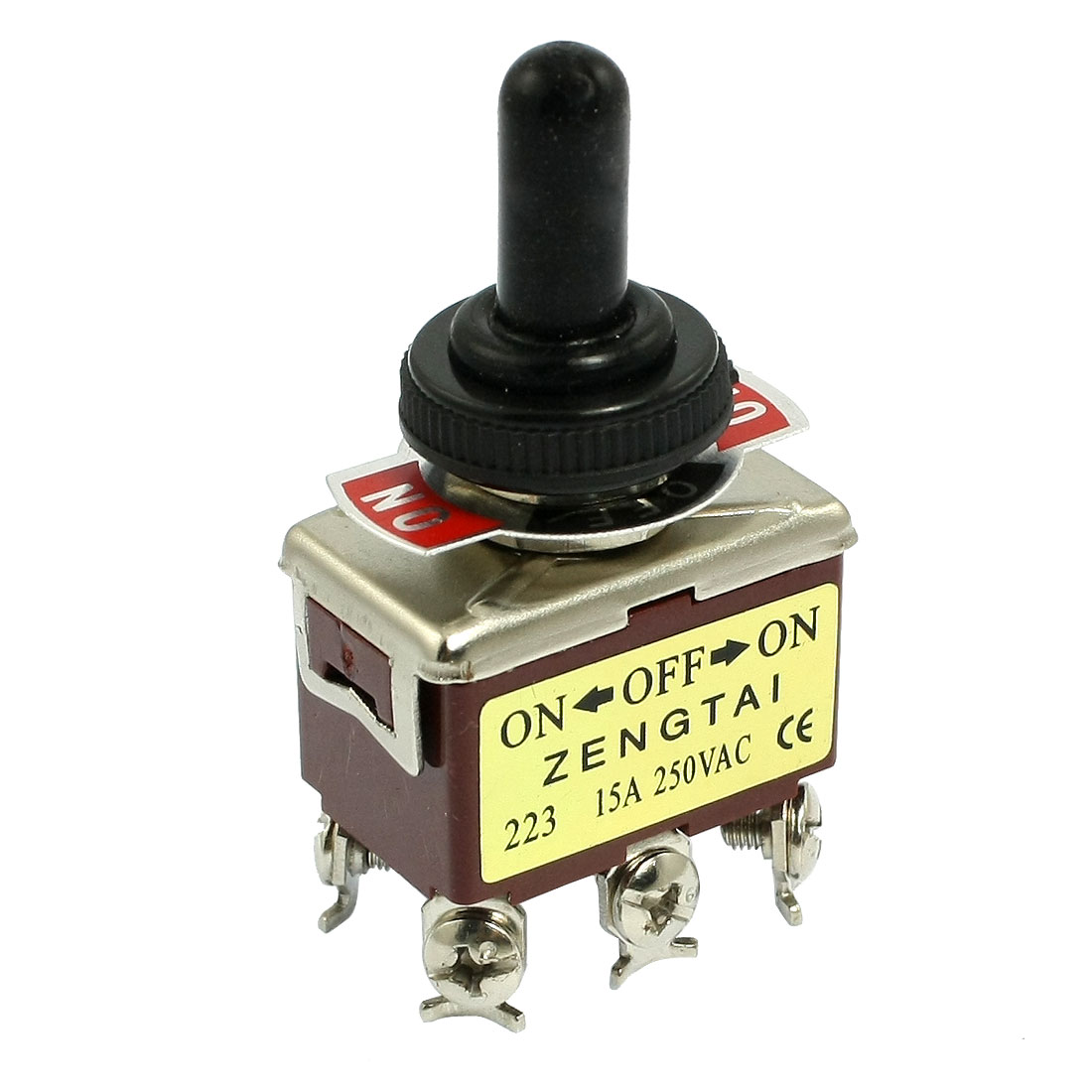 Unique Bargains AC 250V 15A 6 Pin Momentary DPDT On/Off/On Toggle Switch