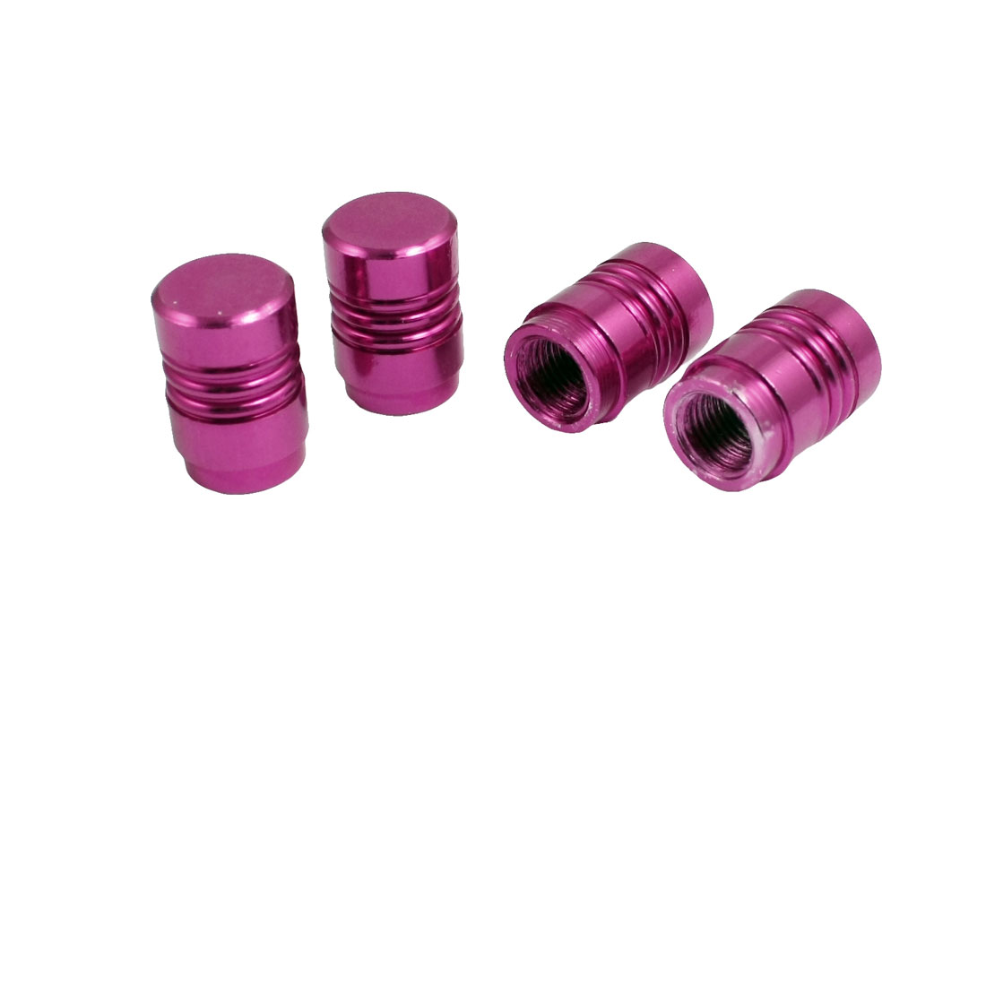 4-Pcs-Fuchsia-Auto-Car-Tyre-Tire-Valve-Caps-Stem-Covers-New