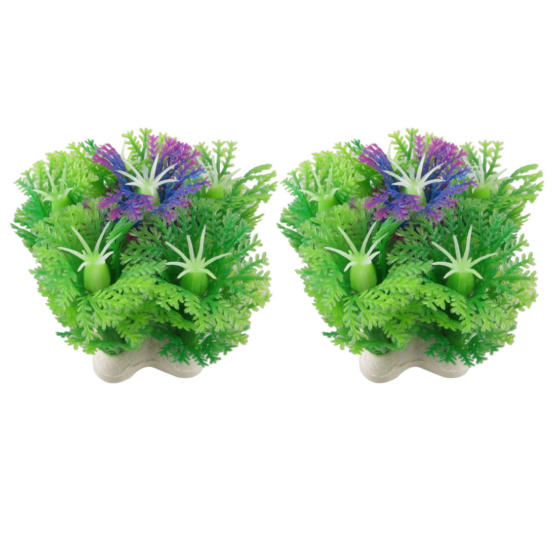 2-x-Manmade-Green-Purple-Plastic-Plant-Decoration-2-4-for-Aquarium-Fish-Tank