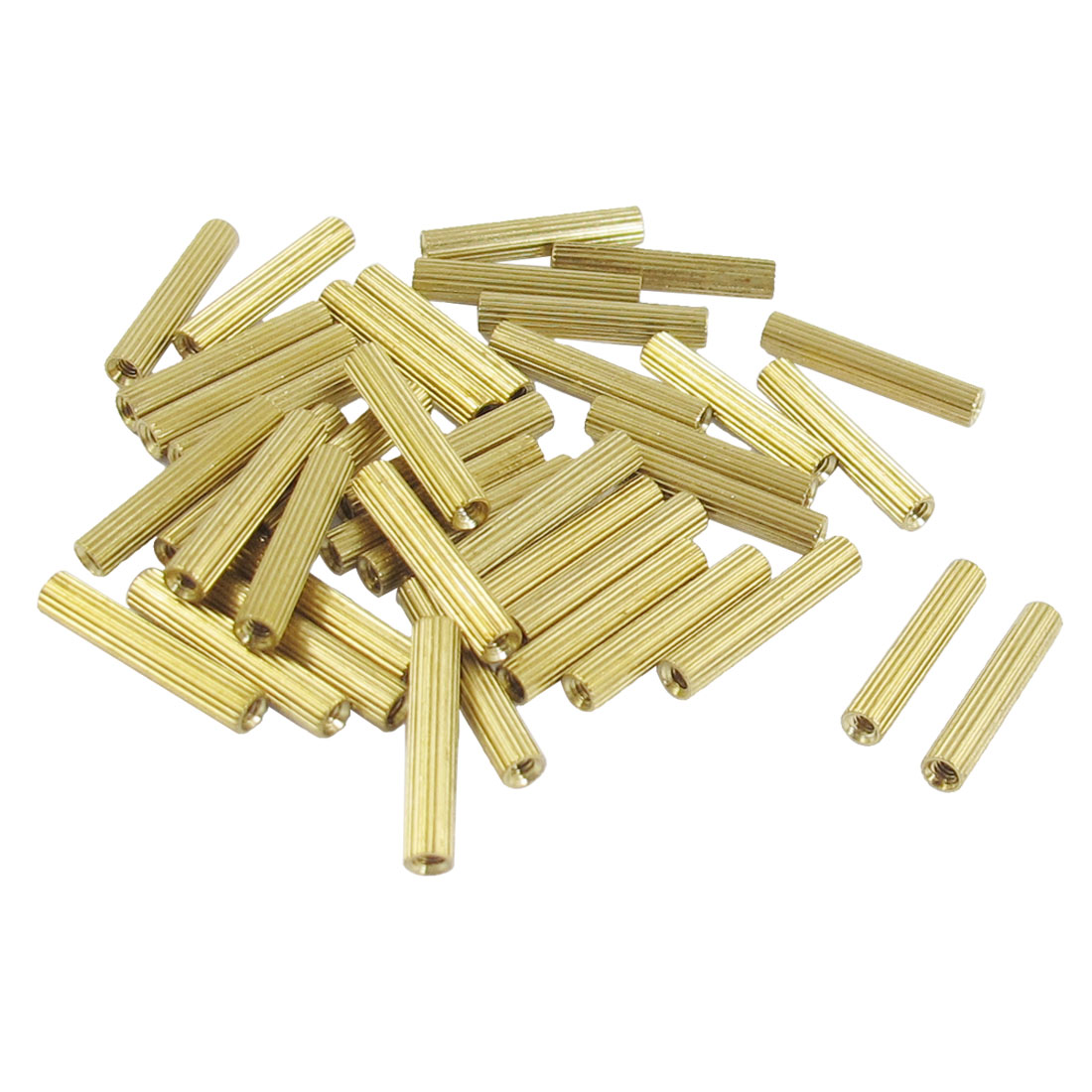 50-Pcs-M2-Female-Thread-Cylindrical-Brass-Stand-off-Support-M2x20mm
