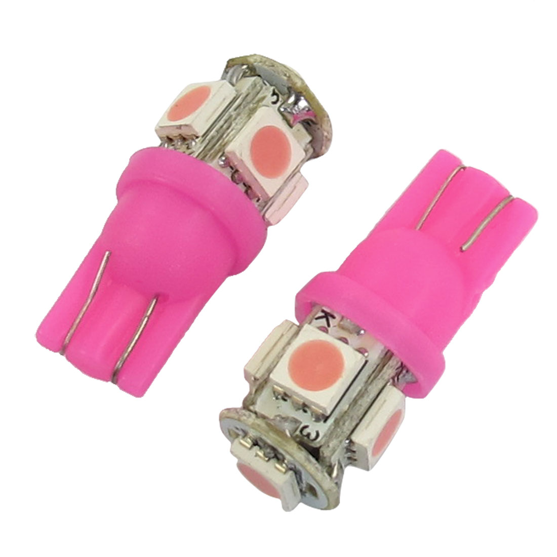 Vehicle-T10-Pink-5050-SMD-5-LED-Turn-Signal-Light-Bulbs-12VDC-2pcs