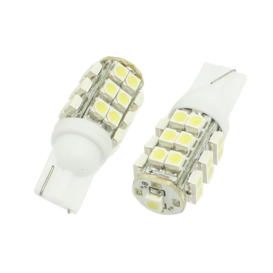 2-Pcs-White-T10-W5W-904-1210-SMD-25-LED-Indicator-Sidemarker-Lights-Bulbs