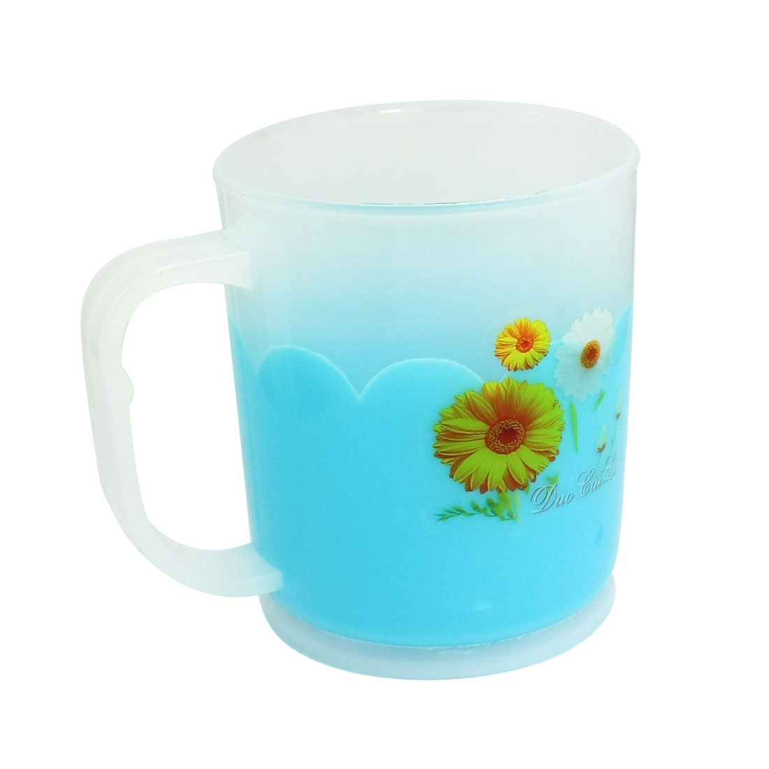 Home-Bathroom-Blue-Sunflowers-Print-Plastic-Cylinder-Toothbrush-Cup
