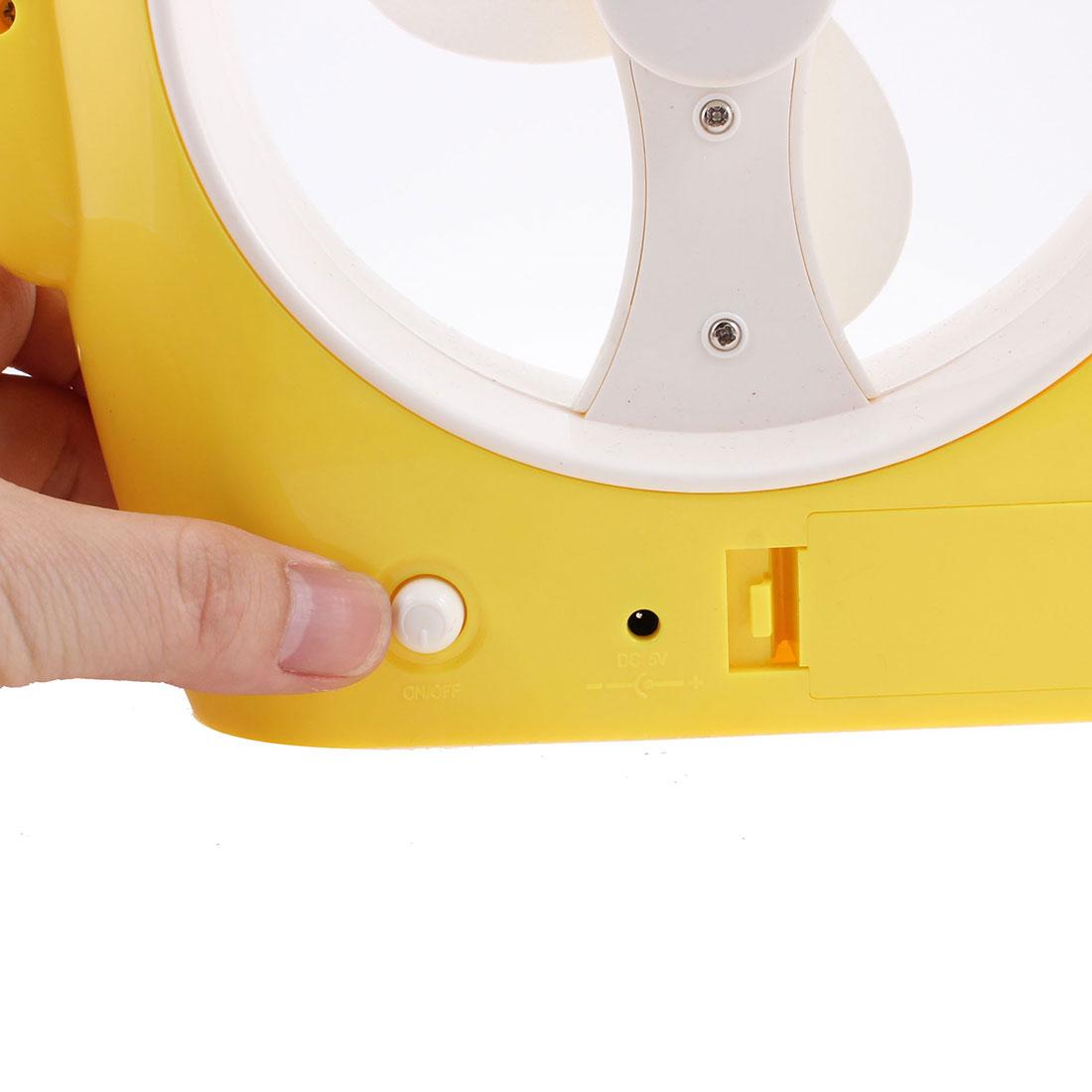 USB-Prise-Alimente-Piles-dessin-anime-Cochon-bureau-Ventilateur-Refroidissement miniature 2