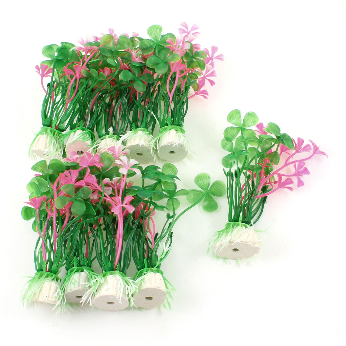 10-Pcs-3-9-Green-Pink-Plastic-Manmade-Grass-Plants-for-Aquarium-Fish-Tank