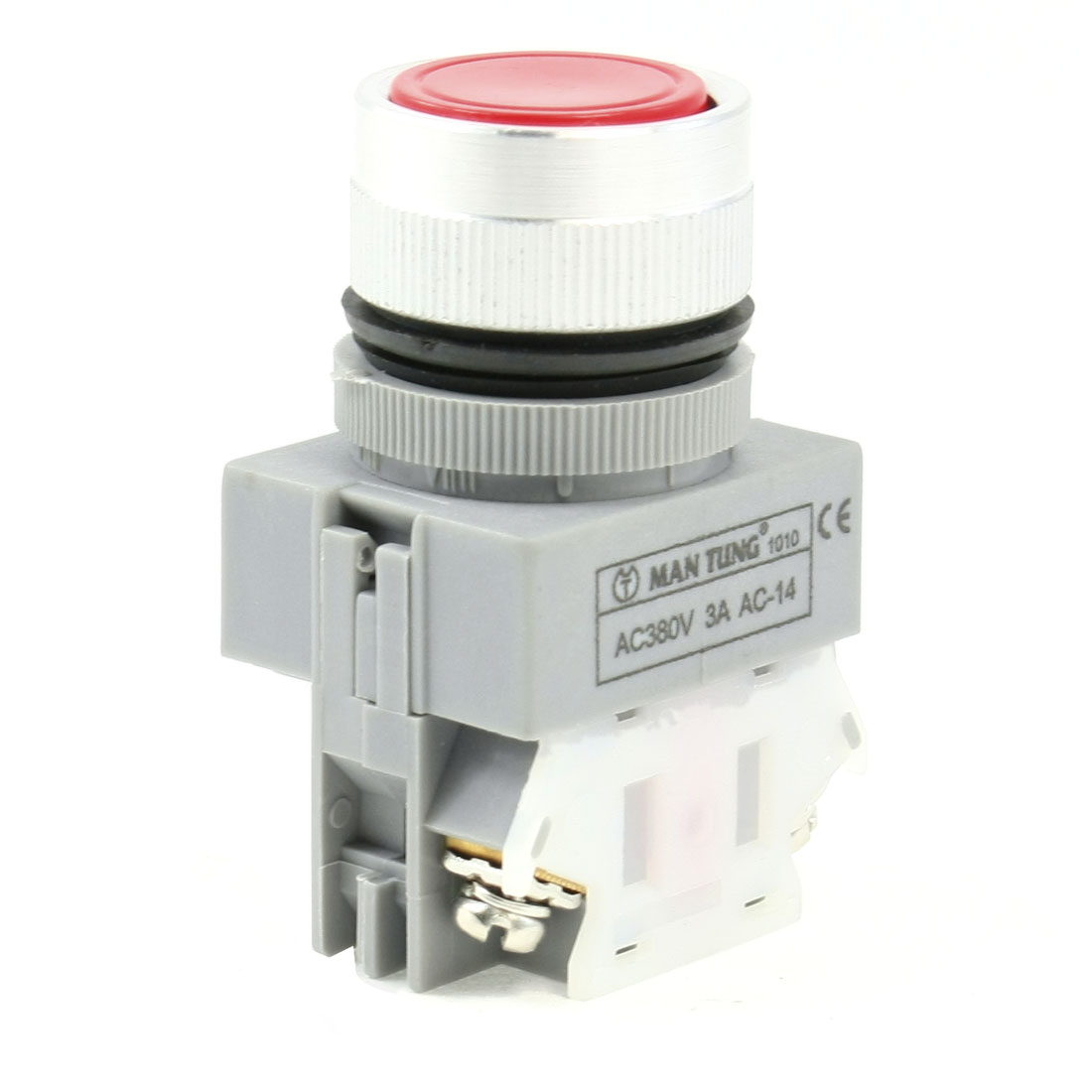Round-Red-Cap-1NO-1NC-Non-Locking-Momentary-Push-Button-Switch-AC380V-3A